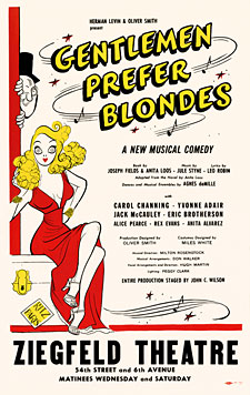 Gentlemen Prefer Blondes 1949 Broadway