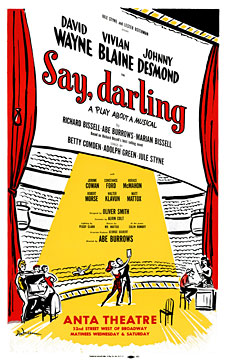 Say Darling 1958 Broadway